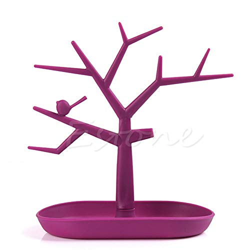 Monkey Tree - Storage Tree - Hanging Play Set Climbing Gym - Display Stand - Fingerlings Compatible (Pink)