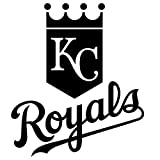 Kansas City Royals logo Waterproof Vinyl Decal Stickers (Set of 2) for MacBook - Laptop - Phone - Helmet - Car Window Bumper - Mug - Cup - Door - Wall - Home Decoration