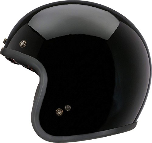 Bell Custom 500 Open-Face Motorcycle Helmet(Solid Black, Large)