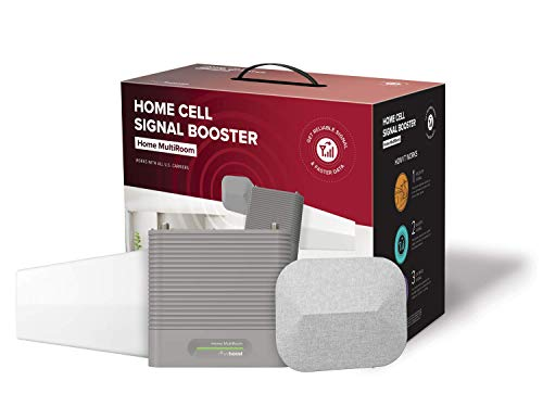 weBoost Home MultiRoom (470144) Cell Phone Signal Booster, Cell Signal Booster Kit for up to Three Large Rooms or 5,000 sq. ft. - FCC Approved (Wireless Cell Phone Signal Booster For Home)