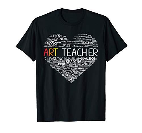 Funny Art Teacher Costume Heart Back To School Gift Women T-Shirt
