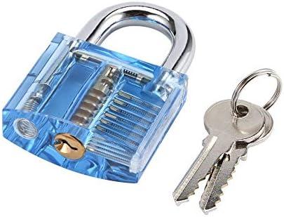 Pr/áctico Extractor de llaves rotas Visible Cortada Pr/áctica Candado Herramienta de cerrajer/ía Ganchos de cierre transparente Extractor