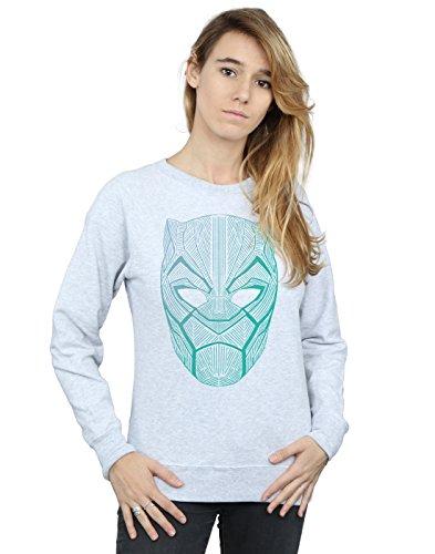Mujer Marvel Tribal Black Panther Entrenamiento Cuero Camisa Gris Mask De 7wqRdvxw