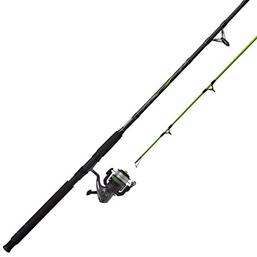 Zebco BCAT50702MH, 15, NS4 Big Cat Spinning Combo, 4.3: 1 Gear Ratio, 7' Length, 2pc Rod, 6-14 lb Line Rate, 1/8-5/8 oz Lure Rate