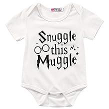 Funny Infant Baby Boy Girl White Romper, Unisex Baby Shower Gift