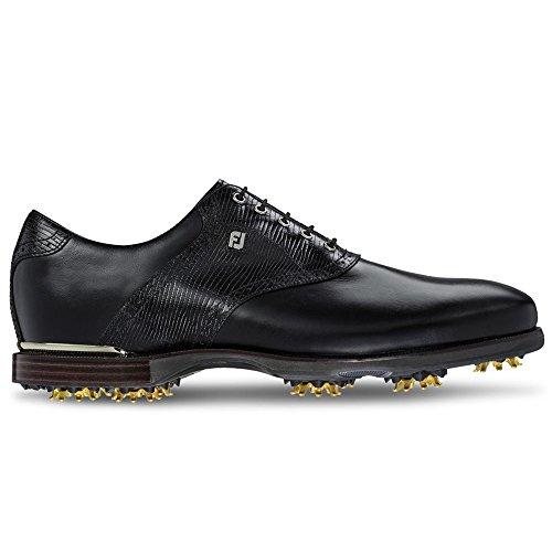 Pictures of FootJoy ICON Black Golf Shoes (13M Black/ Black/Black Lizard Print 1