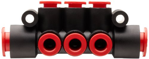 SMC KM11-07-11-6 PBT Push-To-Connect Tubing Manifold, 2 Inlets-3/8'', 6 Outlets-1/4'' Tube OD by SMC (Image #5)