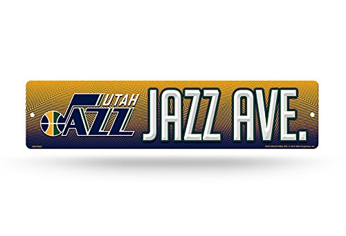 Rico NBA Utah Jazz Plastic Street Sign Decor, 16'' x 4'', Multicolor