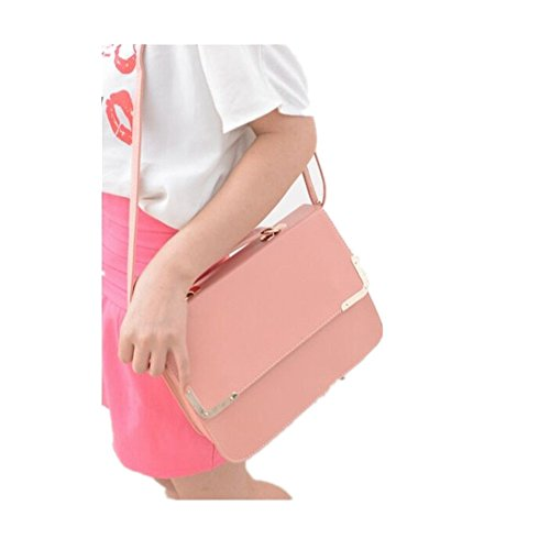 FTSUCQ Womens Envelope Flap Totes Messenger Shoulder Bags Handbags Hobos Pink - Triathlon City Spanish