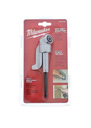 Milwaukee 48-32-2100 Hex Shank 105 Degree Off Set 400 RPM Adaptor for Power Screwdrivers and Drill / Drivers