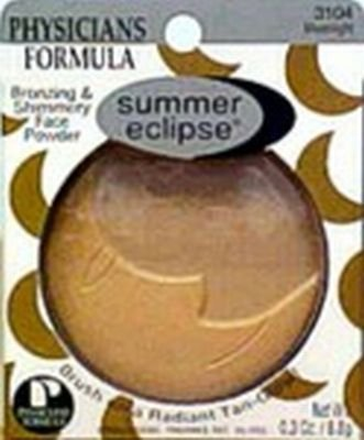 PHYSICIANS FORMULA SUMMER ECLIPSE BRONZING & SHIMMERY FACE POWDER #3104 MOONLIGHT/LIGHT BRONZER