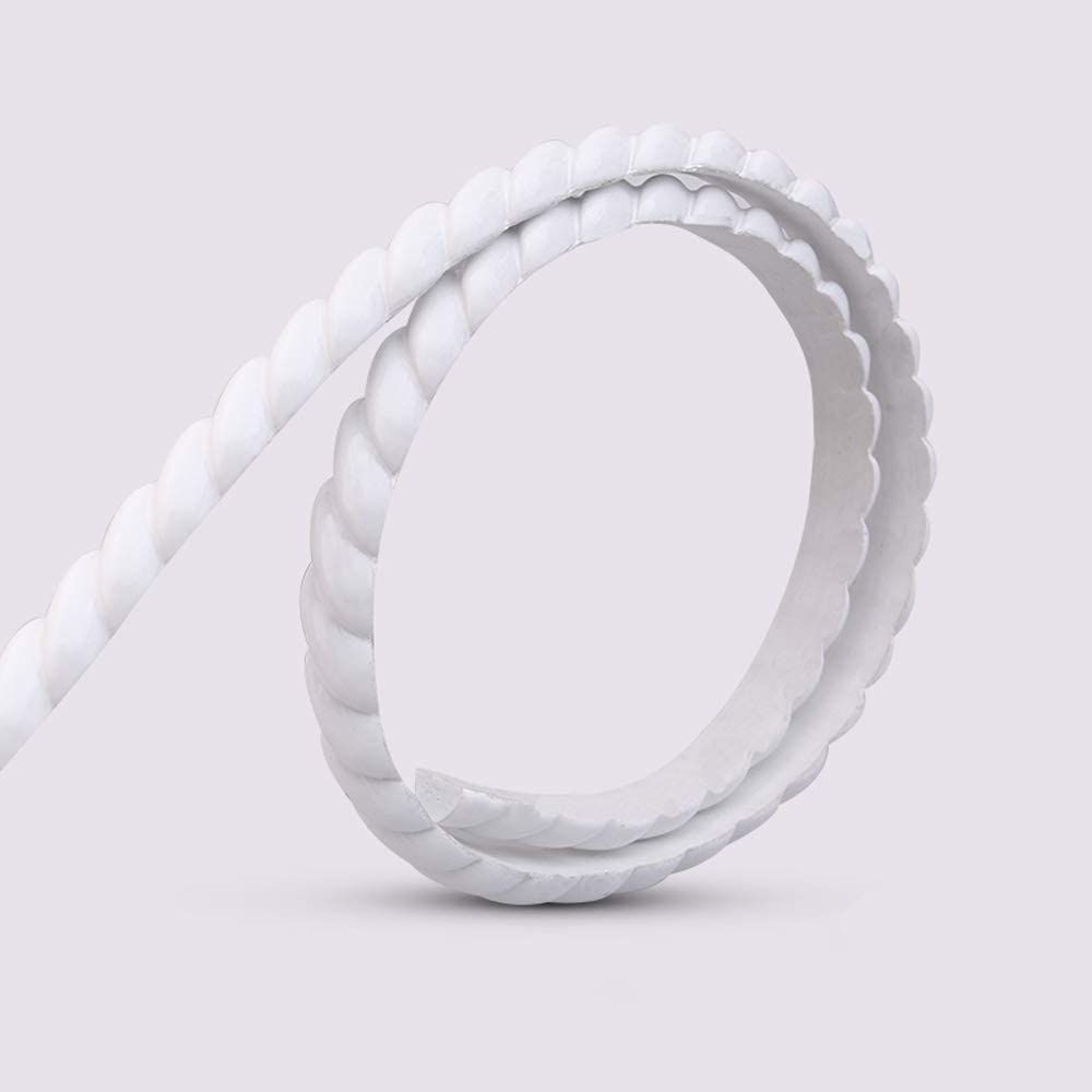 Flexible Molding Trim for Wall, Mirror, Cabinet Edge Rope Moulding 0.6 X 120