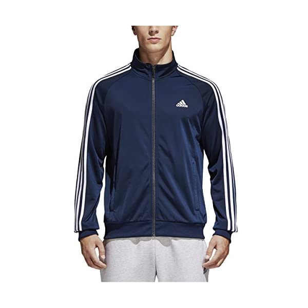 ae3700e79207 adidas Men s Essentials 3-Stripe Tricot Track Jacket - Be Healthy ...