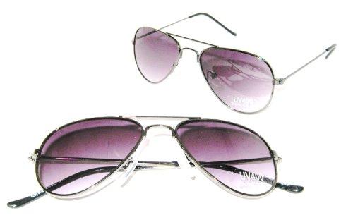 Pacific Coast Aviator Sunglasses (Aviator Baby Top Gun Pilot Kids Sunglasses (Gunmetal))