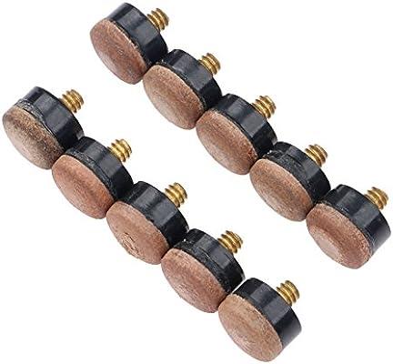 10pcs virolas de partes de repuesto de billar taco de billar palo + para atornillar, taco de billar consejos, 10 mm: Amazon.es: Deportes y aire libre