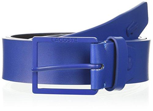 Lacoste Men's Classic Logo Embossed Buckle Belt, Indigo Blue, 85 (Classic Embossed Belt)