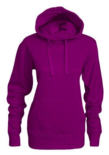 Bemode - Sudadera con capucha - para mujer morado