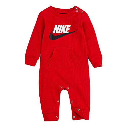 NIKE Children's Apparel Baby Thermal Coverall, University Red, 0/3M (Nike Baby Clothes)