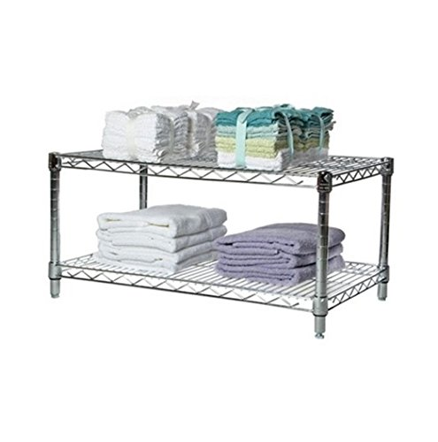 Commercial Chrome Wire Unit 14 x 36 - 2 Shelf Unit - 14'' Height by LJ