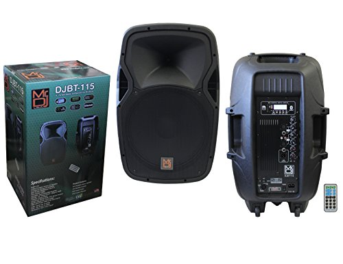 Mr. Dj DJBT115 15-Inch 3000 Watts Max Power Speaker with Built-in Bluetooth/FM Radio/ MP3/USB/SD Card Slot