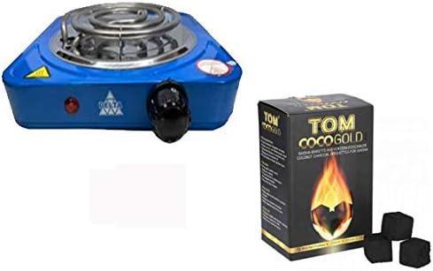 Hornillo 1000 W AZUL mas Kilo carbon Tom Cococha: Amazon ...