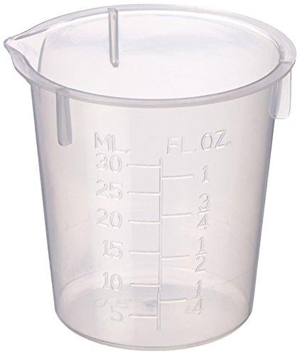 Maryland Plastics L-1210 Polypropylene Disposable Beaker, Graduated, 30 mL (Pack of 100)