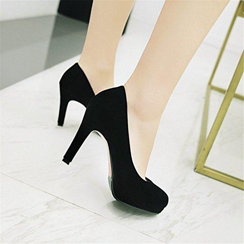 Zapatos Satén Zapatos la y de Alto Impermeable de Taiwán el Zapatos black de Tacón de Tacón Primavera Otoño Durante Mujer qw8OqrF