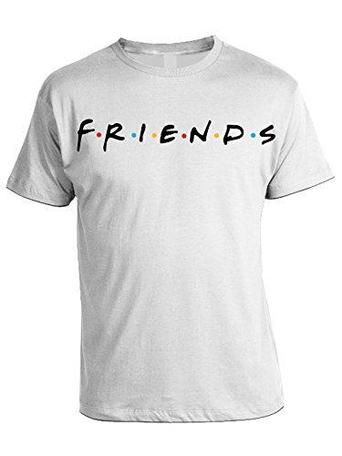 Serie Telefilm Regalo Bianco Tv Bubbleshirt Friends Tshirt Idea pBxWqga