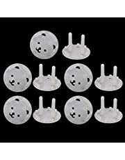 SUSHUN 10 stks EU Stand Stopcontact Cover Stopcontact Baby Kind Veiligheid Elektrische Schokbestendige Stekkers Protector: