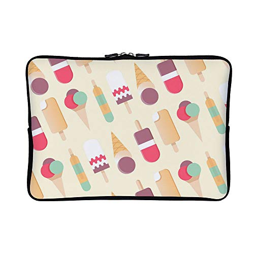 b2260949f0e4a DKISEE Abstract Flat Design Ice Cream Pattern Neoprene Laptop Sleeve Case  Waterproof Sleeve Case Cover Bag