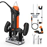 Plunge Router & Rotary Tool in one, Multi-Functiona DIY Tool, 600W...