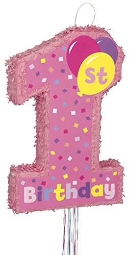 (Girl 1st Birthday Pinata, Pull)