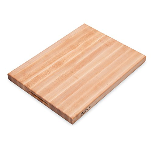 John Boos Platinum Commercial Series Maple Wood Edge Grain Reversible Cutting Board, 24 Inches x 18 Inches x 1.75 Inches (John Boos Maple Cutting Board)