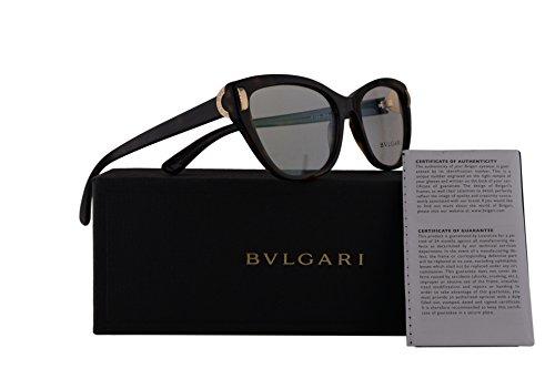 Bvlgari BV4122 Eyeglasses 54-17-140 Dark Havana w/Demo Clear Lens 504 BV 4122 Bulgari ()