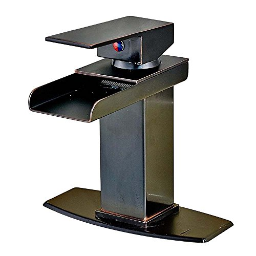 bathroom sink faucet bronze - 9