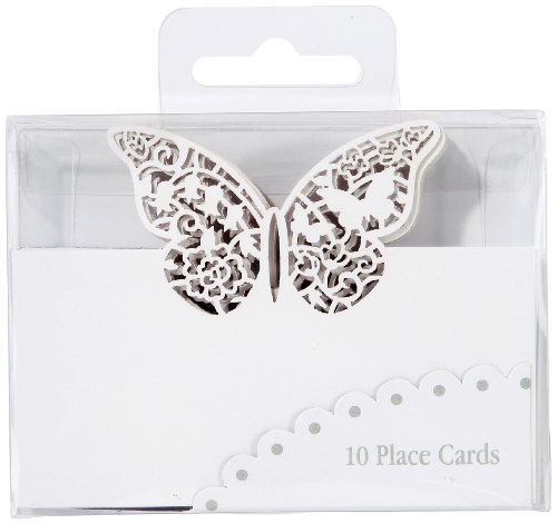 Talking Tables Something in the Air Butterfly Paper Place Cards for a Wedding, White (10 Pack)