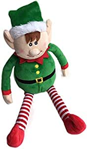 Christmas Plush Elf - Christmas Holiday Decor - Cute Xmas Toy for Kids and The Whole Family