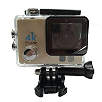 Auphi Full HD 16MP 1080P 2.0 Inch Waterproof Sports Action Camera 170 Degree Wide-Angle Camera(golden)