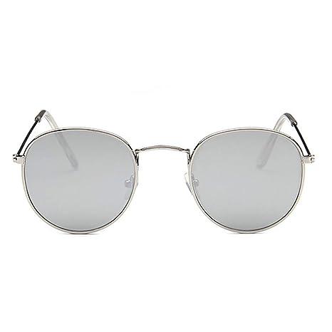 Protección UV Gafas de sol retro redondas pequeñas con ...