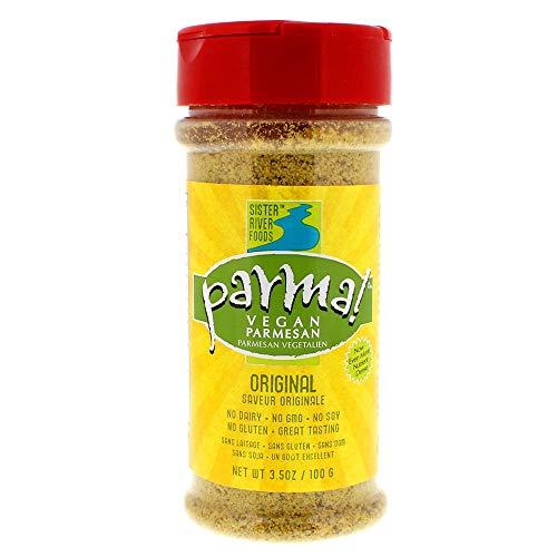 Parma! Vegan Parmesan - Original, Dairy-Free, Soy-Free and Gluten-Free Vegan Cheese, Plant-Based Superfood, Kosher (3.5 ounces)