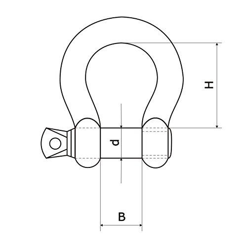 2 x GESCHWEIFTE SCH/ÄKEL 20mm verzinkt geraschweifte Form Drahtseil Stahlseil Verbinder Stahlkette