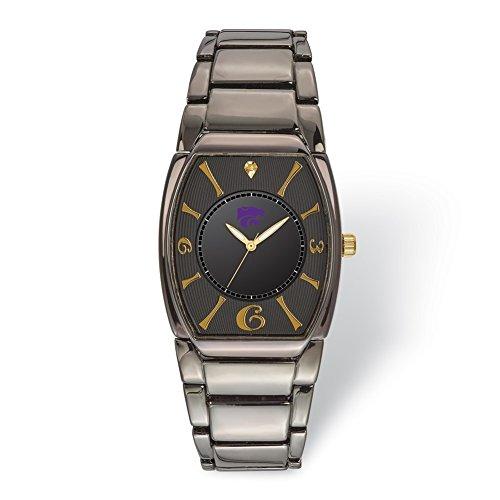 (Lex & Lu LogoArt Kansas State University Executive Black-plated Watch)