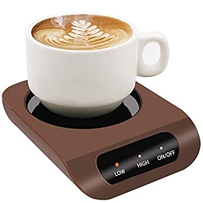 Coffee Mug Warmer-Desktop Beverage Warmer-Electric Cup Warmer Tea Water Cocoa Milk for Office Desk and Home Use 110V 35W Best Gift for Coffee Lovers with Automatic Shut Off Function Black Friday