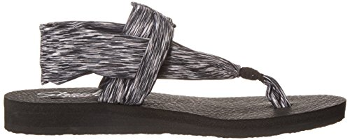 Skechers Meditation studio Kicks - Sandalias Mujer Black/black