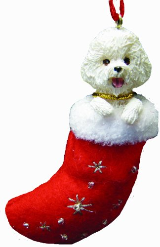 Stocking Bichon Christmas (Bichon Frise Christmas Stocking Ornament with