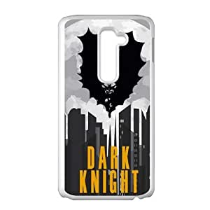 Dark Knight In The City LG G2 Cell Phone Case White toy pxf005_5742864