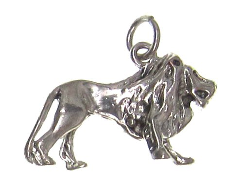 Charm Gallery 77244 Silver Plated Lion (Silver Lion Charm)