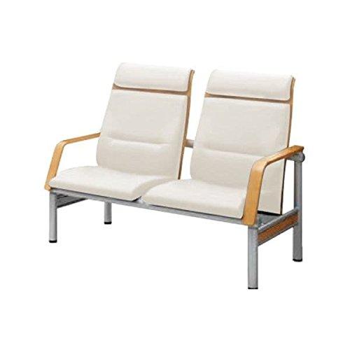 コクヨ(KOKUYO) 待合室用ベンチ 480シリーズ W1265×D725×H955mm CN-482H ホワイトブラウン B07653CD7R ホワイトブラウン ホワイトブラウン