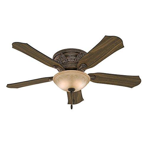 Hunter Viente 52 in. Indoor Flushmount Roman Bronze Ceiling Fan