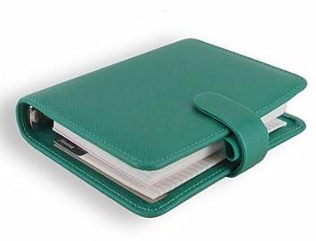 Filofax Pocket Saffiano - Agenda de anillas, color turquesa ...
